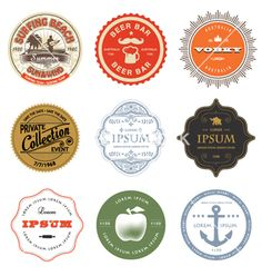 Set of labels logos vector by rln on VectorStock®
