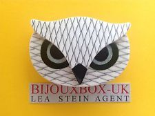 LEA STEIN ATHENA THE OWL BROOCH