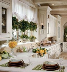 French country kitchen, still makes my heart sing! - Model Home Interior Design Home Interior, Kitchen Interior, New Kitchen, Interior Design, Kitchen Layout, Kitchen Ideas, Kitchen Island, Awesome Kitchen, Kitchen Cabinets