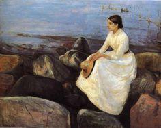 Summer Night Inger on the Shore by Edvard Munch