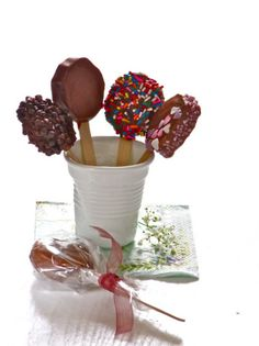 Chocolate Covered Kiwis on a Stick