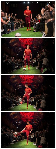 Cristiano Ronaldo unveils the new Nike Mercurial Superfly boots in Madrid.