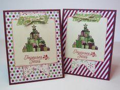 Carte de Noël, carte des fêtes, carte de Noël rustique, carte vintage «Joyeuses Fêtes»  Stampin' Up! Français de la boutique Lamainalacarte sur Etsy
