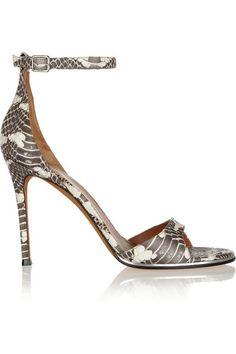 79fb30f07b161 Givenchy Snake Sandals as seen on Eva Longoria