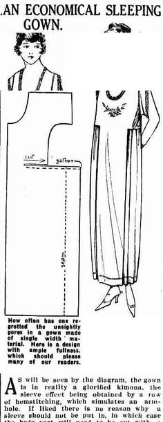 Sydney Mail (NSW : 1912 - 1938), Wednesday 29 December 1920, page 25 An Economical Sleeping Gown