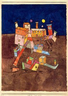 'teil von g', öl von Paul Klee (1879-1940, Switzerland)