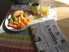 Breakfast in Camporgiano, Tuscany