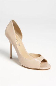 "Lovely peep toe, nice full 4"" heel, yet no platform keeps this office respectable, yet still a sexy shoe all for under 60 bucks! ALDO 'Hersey' Pump | Nordstrom $53"
