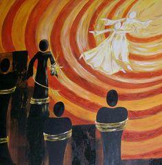 "Original Painting - 18 x 24"" Acrylic on Canvas - He set the Captives Free"