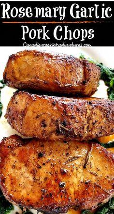 glutenfree porkchops rosemary boneless porkchop garlic butter recipe chops paleo pork easy Rosemary Garlic Butter Pork Chops Rosemary Garlic Butter Pork ChopsYou can find Easy pork recipes and more on our website Easy Pork Chop Recipes, Pork Rib Recipes, Paleo Recipes, Smoker Recipes, Recipes Dinner, Dessert Recipes, Paleo Pork Chops, Juicy Pork Chops, Rosemary Pork Chops