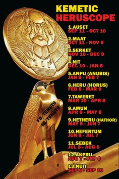 Kemetic Heruscope similar to modern astrology and zodiac. Ancient Egyptians looked to the heavens/stars/planets to tell us our fates. Ancient Egypt, Ancient History, Kemet Egypt, Egyptian Mythology, Black History Facts, African American History, Anubis, Knowledge, Awakening