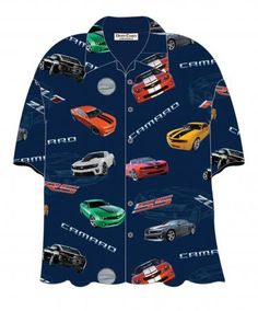 David Carey Ford T-Bird Thunderbird 55 56 57 Hawaiian Camp Shirt