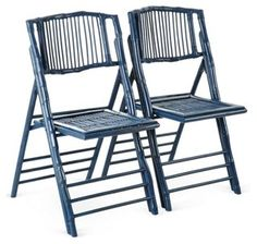 Blue Anneliese Folding Chairs, Pair For kitchen island