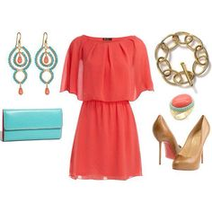 Not a fan of the bright color but like the style of the dress.