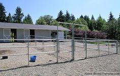 How to Size Your Horse's Paddock? | Smart Horse Keeping | TheHorse.com | I love how these paddocks have such easy access to them and each have a stall