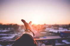 Free Image: Man's Hand is Trying To Reach The Sun | Download more on picjumbo.com!