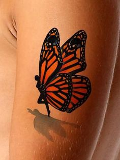 3D Fairy- Butterfly Tattoo with Skulls - AsIfTattooed.com
