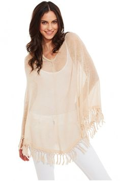 Add a bohemian layer to your outfit with our Roberta Roller Rabbit crochet sweater poncho made of crisp linen. The subtle texture of the linen and the crochet detail along the hem adds that extra something to any basic outfit. Not to mention, it is the perfect lightweight sweater for those late summer nights.