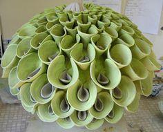 Frances Doherty: lime green pom pom