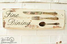 Antique Silverware - {Fine Dining Sign