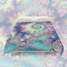 Violet Teal Seashells, Abstract Underwater Forest | Duvet Cover from Society6 ... other styles, other designs, other products are available. #DianeClancy