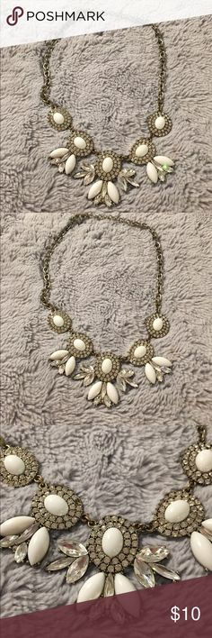 White J. Crew Necklace Very cute white j. Crew Necklace. Missing just 1 piece- barely noticeable. Priced reasonably J. Crew Jewelry Necklaces