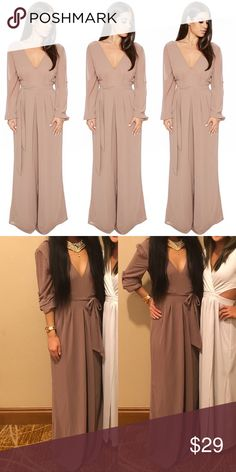 20677cbf NAKED WARDROBE One & Only Jumpsuit (Small) Wide leg jumpsuit belt tie naked  wardrobe