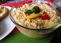 Ostřejší strouhaná bramborová pomazánka na chlebíčky Potato Salad, Oatmeal, Grains, Food And Drink, Potatoes, Rice, Cooking Recipes, Treats, Breakfast