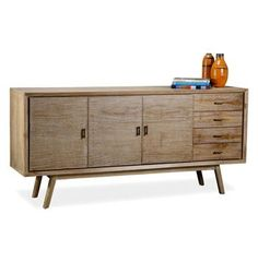 Cape Cod Whitewash Coastal Beach Modern Sideboard Entertainment Console