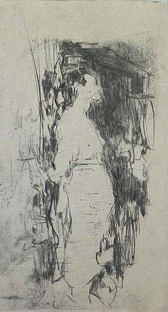 Robert D'Arista, 1929-1987, etching. Robert D'Arista Prints 1979