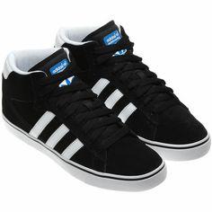 adidas campus vulc mid black/run white/bluebird blue
