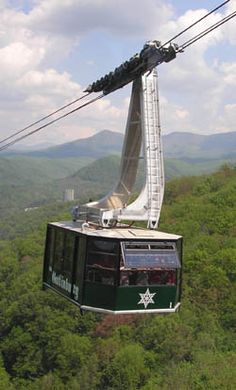 Ober Gatlinburg tramway. Visit Ober and have a wonderful time with your family and friends! There is so much to do and see here! #ober #gatlinburg #tramway