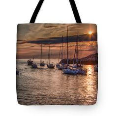 """Passing the headlands for open ocean Tote Bag 18"""" x 18"""""""