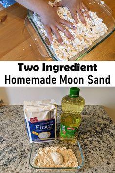 Kinetic Sand Table, Make Kinetic Sand, Homemade Kinetic Sand, Homemade Moon Sand, Sand Slime, Foam Slime, Diy Moon Sand, How To Make Sand, Sands Recipe