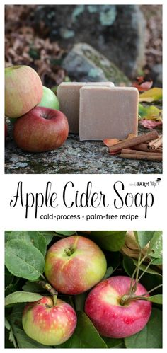 How to Make Apple Cider Soap - a cold process and palm free simple natural soap recipe