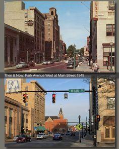 Then & Now: Park Avenue West at Main Street 1949