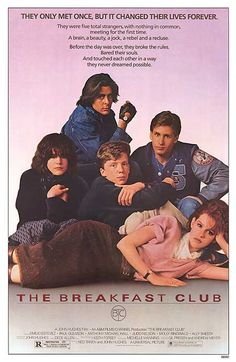 Recently The Breakfast Club had an anniversary....if you want to run the memory lane again  BUY 11X17 POSTER HERE FOR $9.99 http://www.movieposter.com/poster/MPW-21637/Breakfast_Club.html