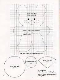 Resultado de imagem para molde urso feltro