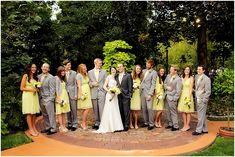 grey yellow wedding | wedding party photo idea | logan walker photography