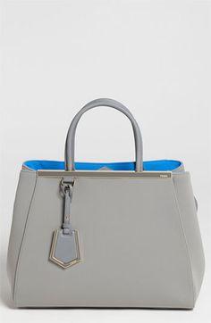 Fendi '2Jours - Medium' Neoprene Satchel available at #Nordstrom: gorgeous blue/grey pairing