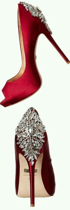 Wedding bridesmaids shops heels badgley mischka 61 New ideas Best Bridal Shoes, Red Wedding Shoes, Black Wedding Rings, Wedding Heels, Casual Wedding, Trendy Wedding, Rote High Heels, High Heels Images, Zapatos