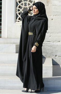 Şahmeran Abaya Ferace - Siyah