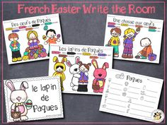 French Easter Write the Room! Perfect for Easter this set is filled with great French vocabulary activities including the write the room activity, word puzzles, colour by word pictures and more! Perfect for centres! Save money with the Write the Room bundle and get sets for the whole year and future sets for free! #easter #paques #french #francais
