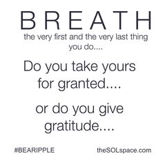 B R E A T H....Do You you ever stop to consider your breath...?   A note from SOL-Talk.... Your breath is the energy mover of your body.... It is also the beginning of your creating and manifesting...   #breath #SOLtalk #energy #create #manifest #LOA #love #feel #yoga #meditation #mindfulness #prayer