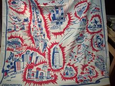 Vintage Los Angeles Map Tablecloth   Los Angeles, Angeles And Rose Bowl
