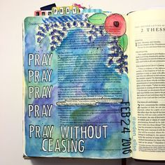 Bible journaling, 1 Thessalonians 5:6 — Arden Ratcliff-Mann