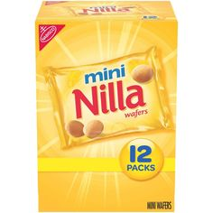 Mini Nilla Wafers Cookies – Munch Pack – – Famous Last Words Wafer Cookies, Vanilla Cookies, Mini Cookies, Sweet Cookies, Munch Pack, Ice Cream Bites, Cookie Packaging, Create A Recipe, Homemade Desserts