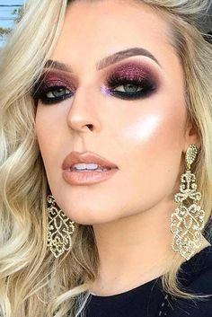 Popular Makeup Ideas with Glitter Shadows picture 4