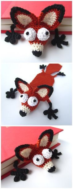 These nine crochet bookmark patterns are small projects that require just a little bit of yarn and time. Here are some free and paid crochet patterns for making bookmarks. Crochet Baby Blanket Beginner, Beginner Crochet Tutorial, Beginner Crochet Projects, Crochet For Beginners, Crochet Fox, Crochet Gifts, Cute Crochet, Crochet Patterns Amigurumi, Crochet Dolls