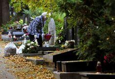 El cemeterio: las flores, las velas